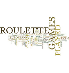 Live roulette games text background word cloud vector