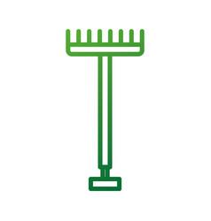 Metal garden pitchfork with plastic handle for vector