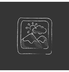 Picture drawn in chalk icon vector