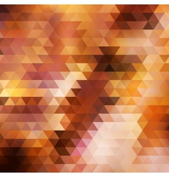 Rainbow geometric autumn background card vector image