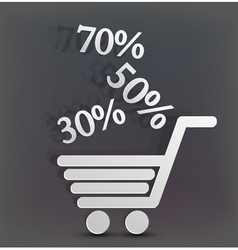 Retail discount Background vector image vector image