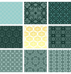 retro wallpaper set vector image vector image
