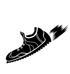 Silhouette of ranning shoes vector