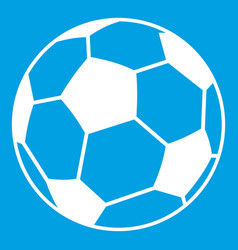 soccer ball icon white vector image