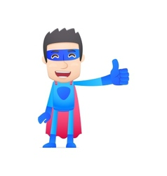 superhero in various poses vector image vector image