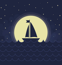 the sailboat silhouette vector image