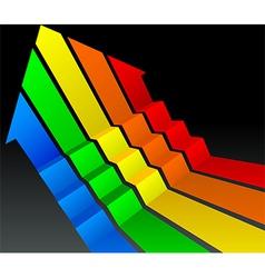 up arrow vector image