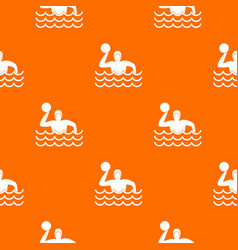 water polo pattern seamless vector image vector image