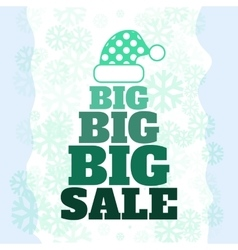 Winter sale poster with big sale text advertising vector