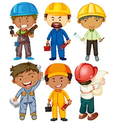 People doing different types of jobs vector