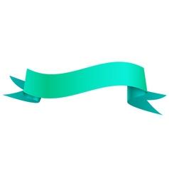 Realistic shiny ribbon isolated on white vector image