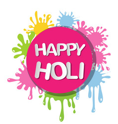 Colorful for happy holi invitation and greeting vector