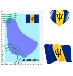 colours of Barbados vector image