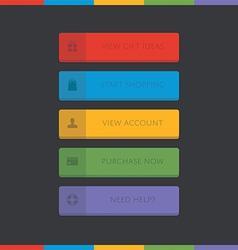 3d call-to-action button set vector