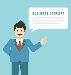 Business man stay with hand up finger pointing vector