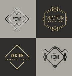 Set of minimal geometric vintage labels vector