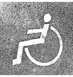 Parking places with disabled signs on asphalt vector
