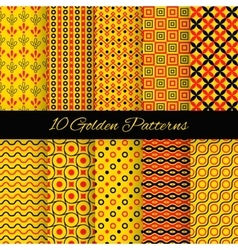 10 asian seamless patterns vector