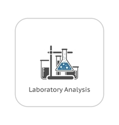 Laboratory analysis icon flat design vector