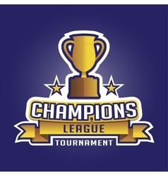 Champion sports league logo emblem badge graphic vector