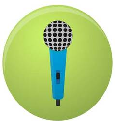 Microphone icon colored isolated vector