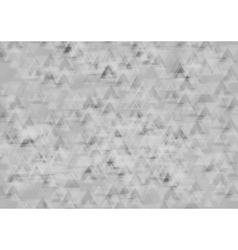 Abstract tech geometric background with triangles vector image vector image
