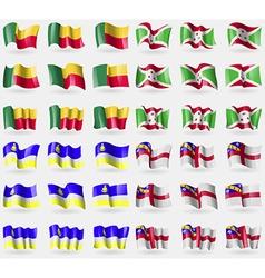 Benin burundi buryatia herm set of 36 flags of the vector