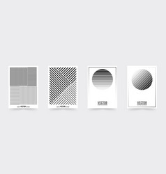 Brochure cover template set vector