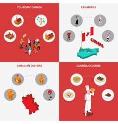 Canada Concept Icons Set vector image vector image