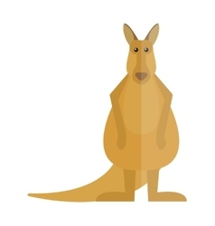 Cute kangaroo cartoon australia animal flat vector image