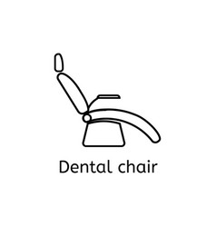 Dentist chair simple icon in outline style vector