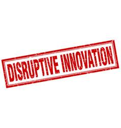 Disruptive innovation square stamp vector
