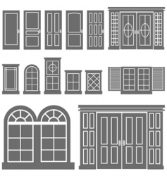 door and window vector image vector image