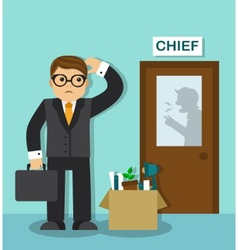 Employee dismissal vector