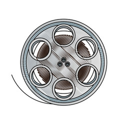 Film stripe reel on movie cinema negative vector