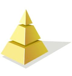 Golden pyramid vector