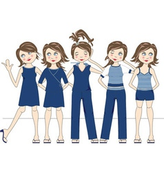 Group of women vector image vector image