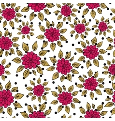 Hand drawn seamless vintage pattern vector image vector image
