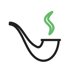 Lit smoking pipe vector