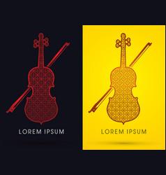 luxury violin vector image