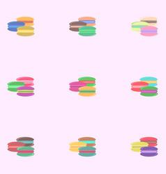Macaroon cookies set vector