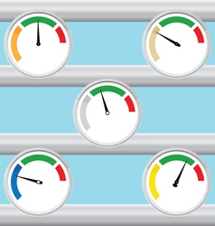 Manometer set vector image