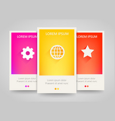 modern colorful vertical business banners vector image