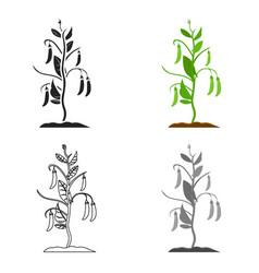 Peas icon cartoon single plant icon from the big vector