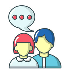 people conversation icon cartoon style vector image vector image