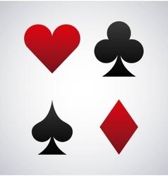 Poker cards game casino vector