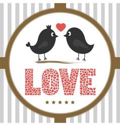 Romantic card1 vector image vector image