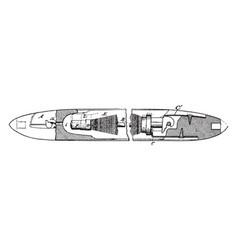 Shuttle loom vintage vector