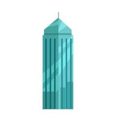 Skyscraper In Flat Design vector image vector image