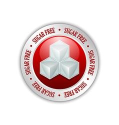 Sugar free badge vector image